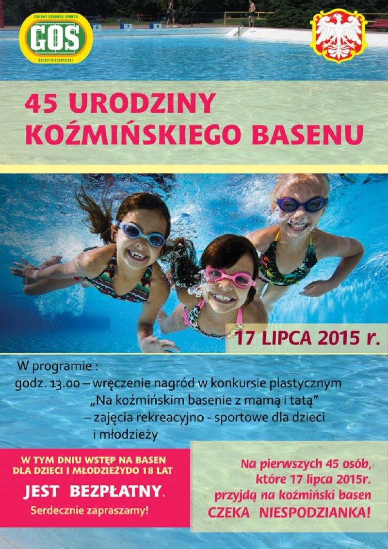 plakat urodziny basenu